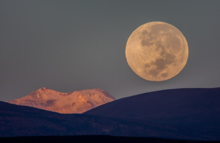 Some images require certain equipment. Without a big telephoto, this shot of the full moon over the Andes would have been impossible.