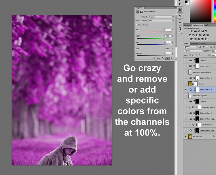 how to change colours in photoshop image