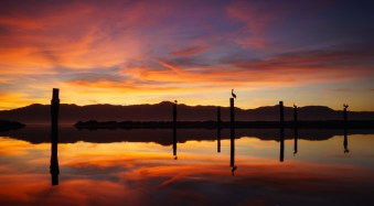 Sunset at Salton Sea, California, by Anne McKinnell