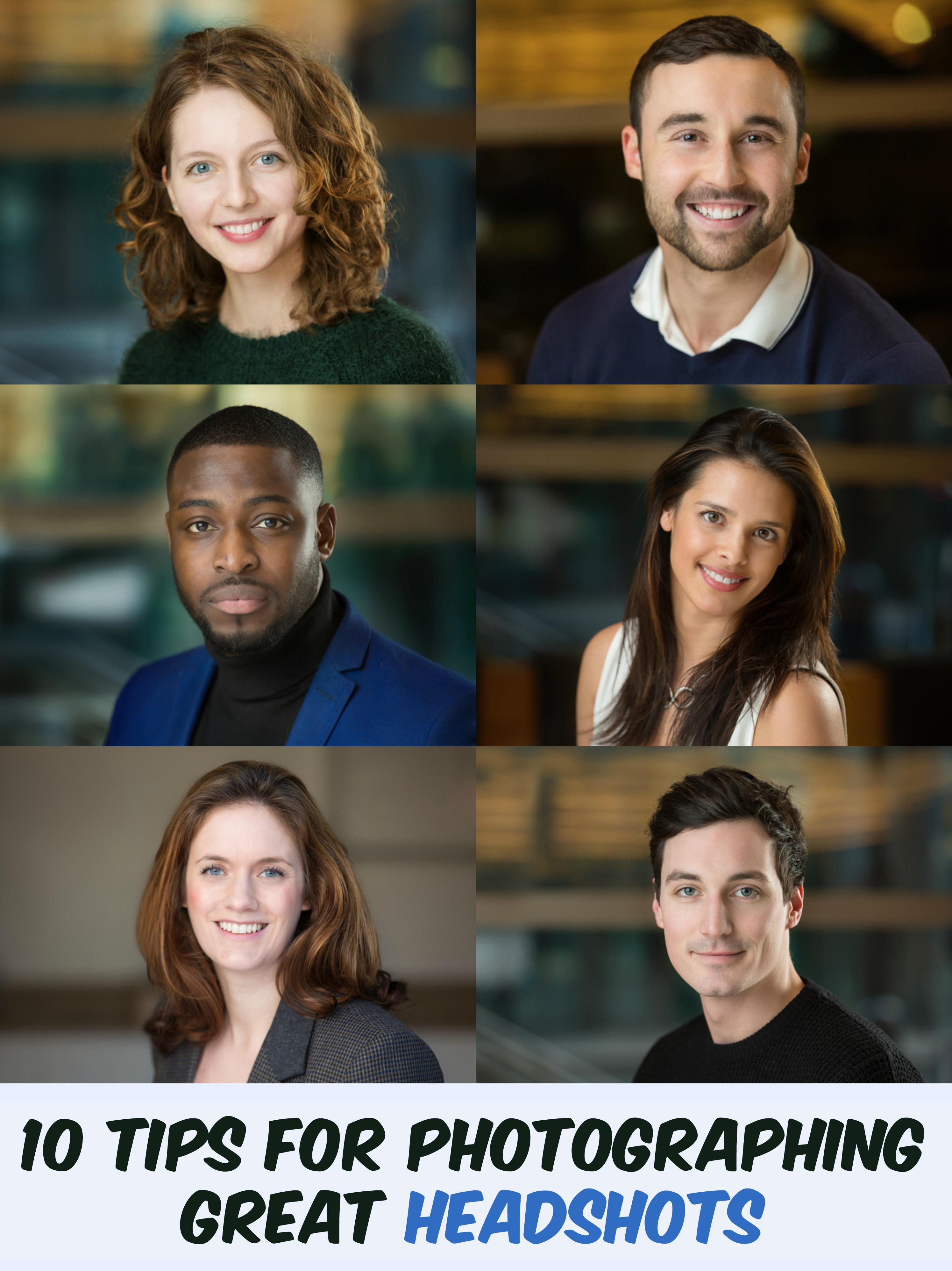 10 Tips for Photographing Great Headshots