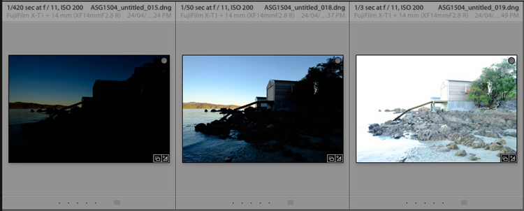 HDR merge in Lightroom
