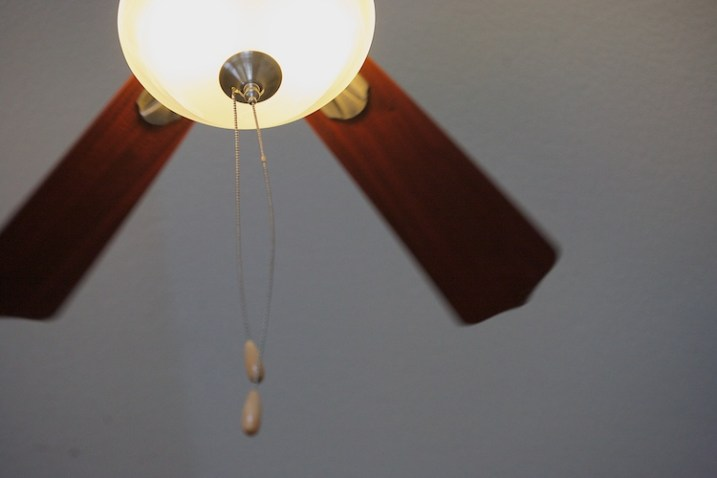 Practice shutter speed using a ceiling fan/