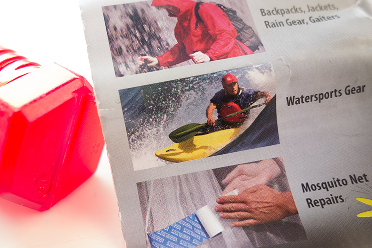 Image: Tent Repair Tape – found in most camping outdoor retail outlets.