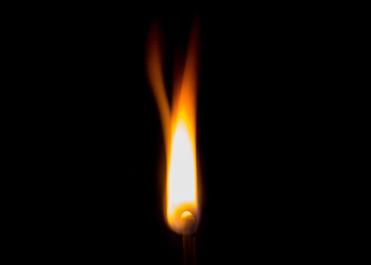 foto de chama de longa exposição