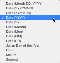 File naming in lightroom 8