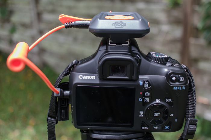 The MIOPS trigger can either mount on your DSLR's hotshoe connector, or on your tripod via a standard screw-in connection.