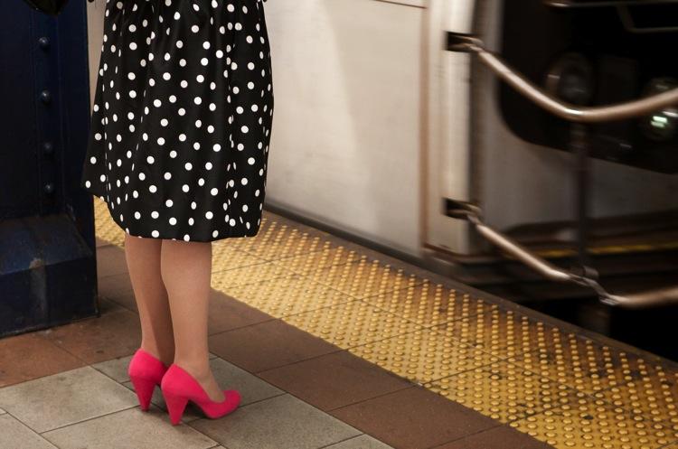 19 polka dots and pink shoes