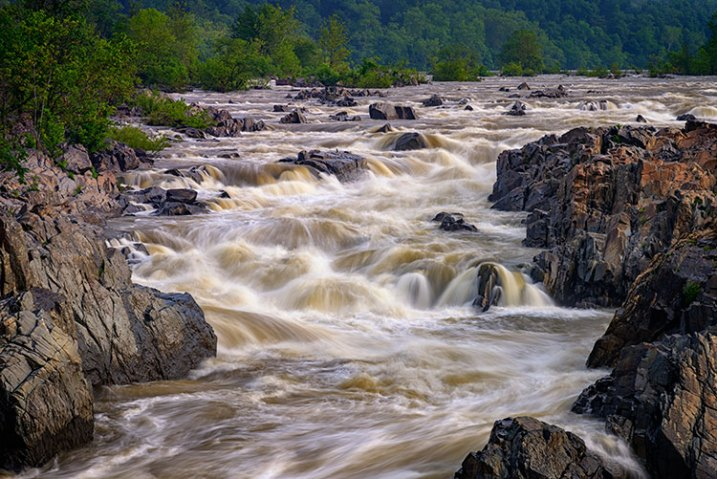Landscape image using a slow shutter speed and wide angle lens.