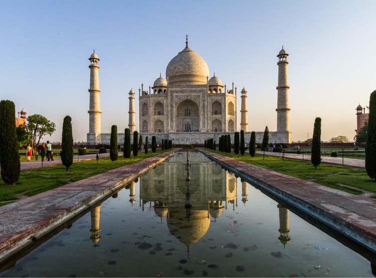 Taj Mahal and reflection