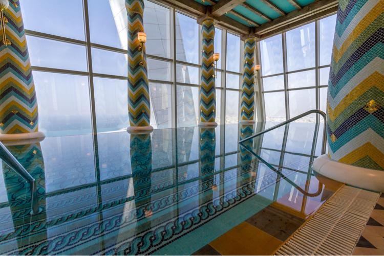 Infinity pool and Dubai