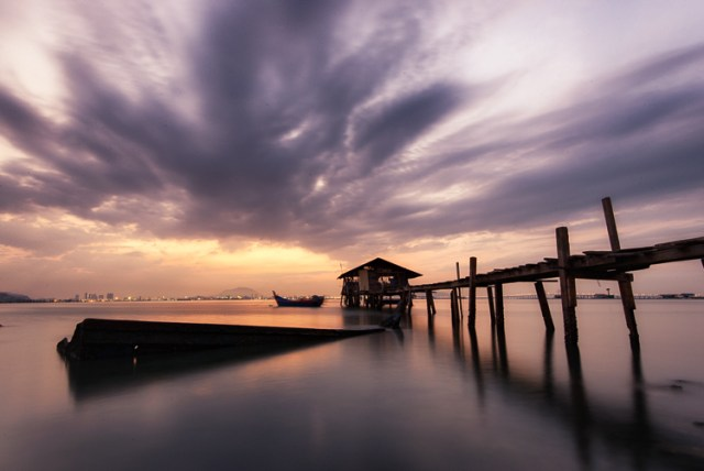 Penang Sunrise at Fisherman Jetty
