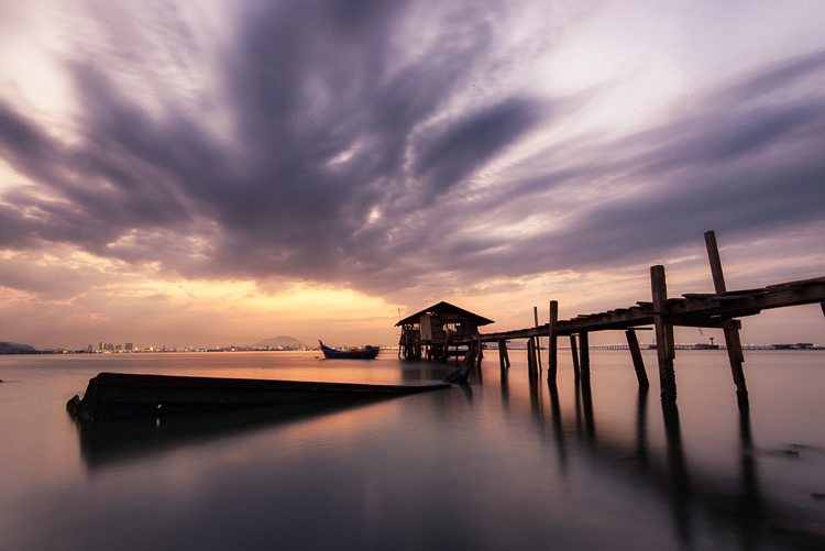 Penang Sunrise at Fisherman Jetty