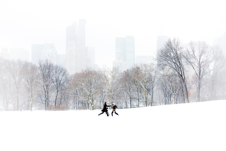 Couple in Sheep Meadow, New York