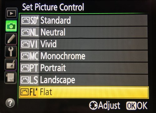 Nikon 810 Flat Picture Control