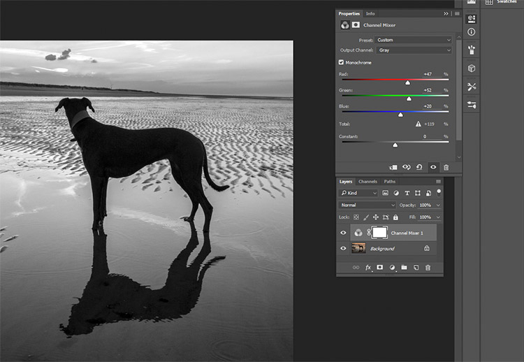 black-and-white-conversions-in-photoshop-channelmixer-layerproperties