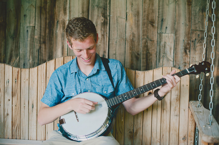 musician with a banjo