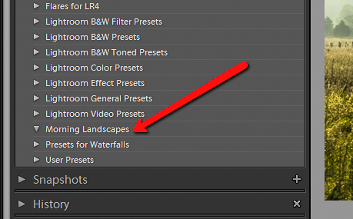 Preset Folder Location