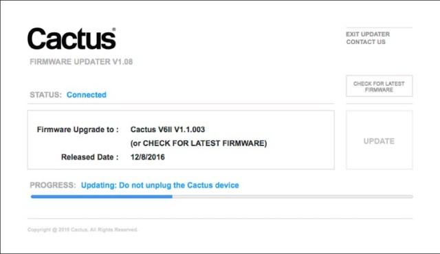 Cactus Firmware Updater