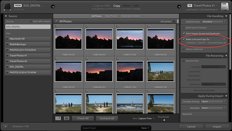 Backing up images traveling 07