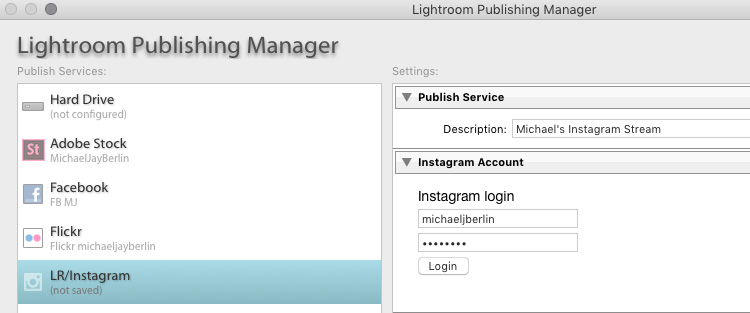 Setting up the LR/Instagram Plug-In