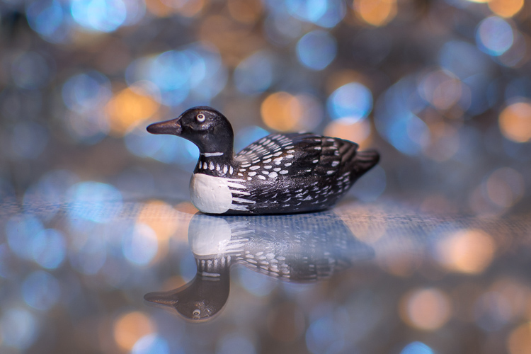 Using Live View helped me get this small wooden duck very sharp and focused.