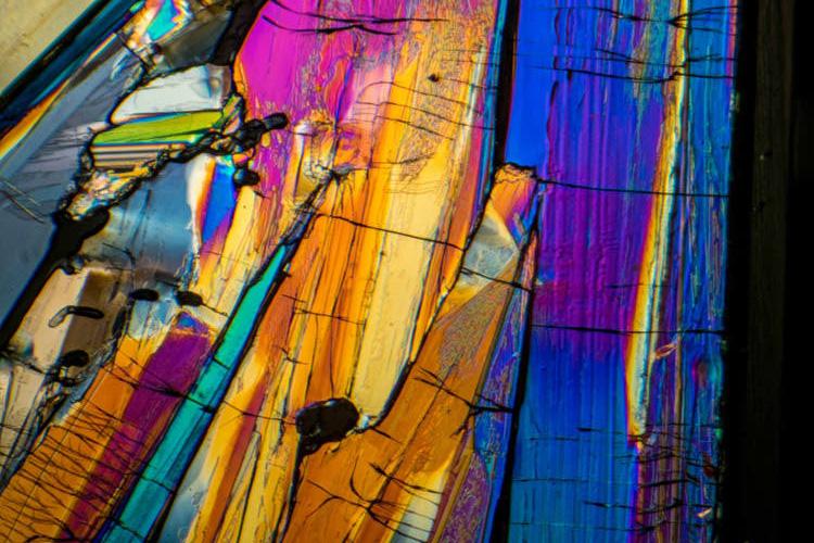photomicroscopy photomicrograph micrograph - benzoic acid
