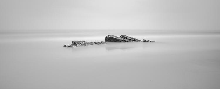 long exposure rocks in water