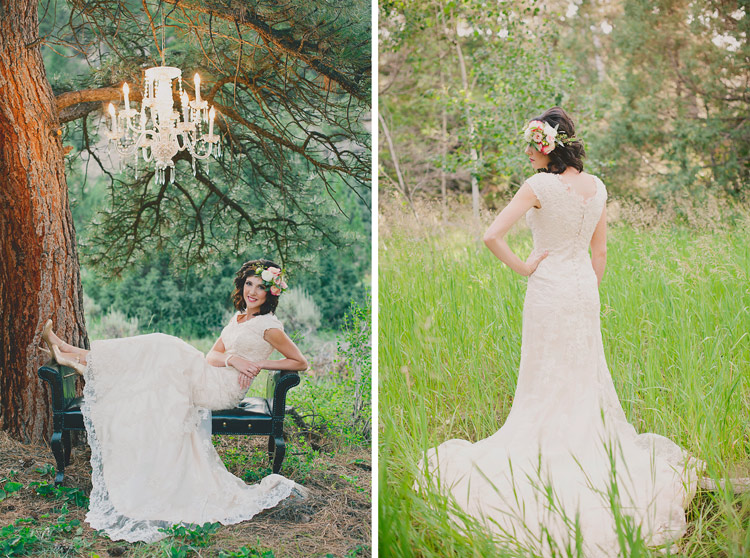 bridal portrait outdoors