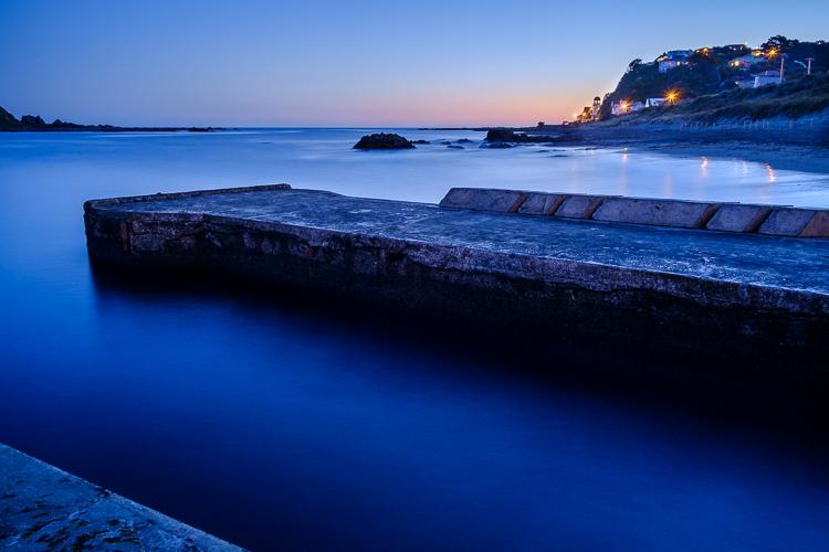 como adicionar profundidade e dimensão na composição da paisagem marinha de longa exposição