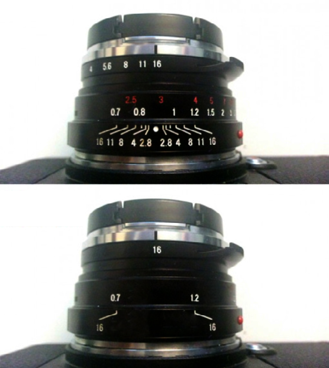 setting up zone focusing on a lens