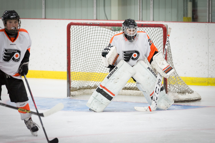 Capturing goalies is a real challenge. Usually, there's a lot of traffic in front of them.