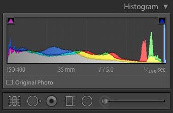 The Lightroom histogram