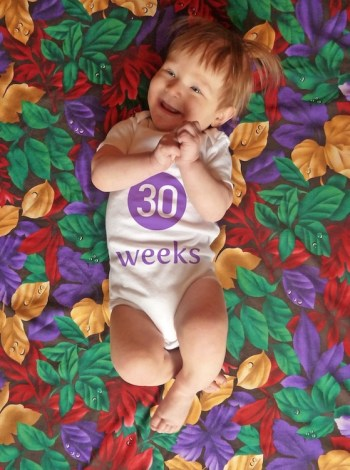 Baby milestones Photoshop background