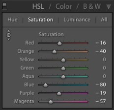 Lightroom中的选择性着色