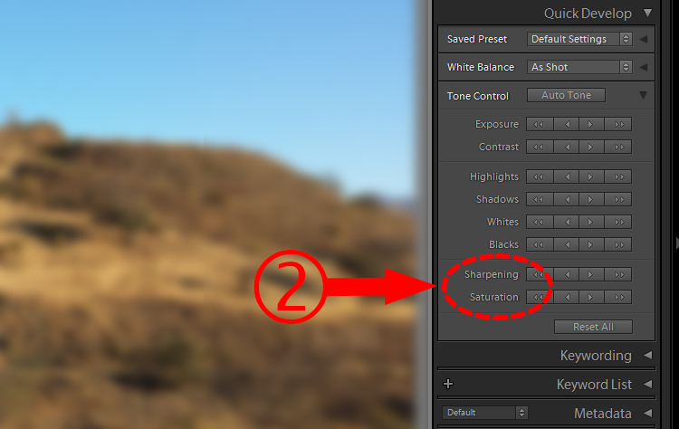 Lightroom Secret2 quick develop2