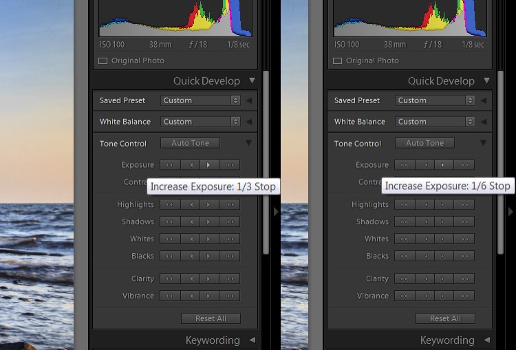 Lightroom Secret3 quick develop precision