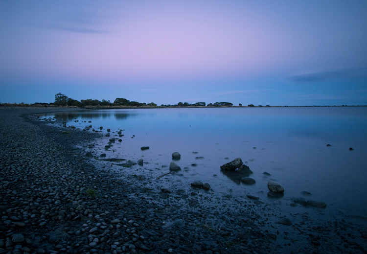 Image: Long exposure as the tide was going out after sunset.