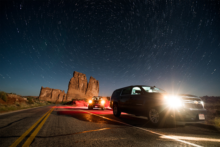 Image: This is the final image after combining in Photoshop. Notice the star trails we got as a bonu...