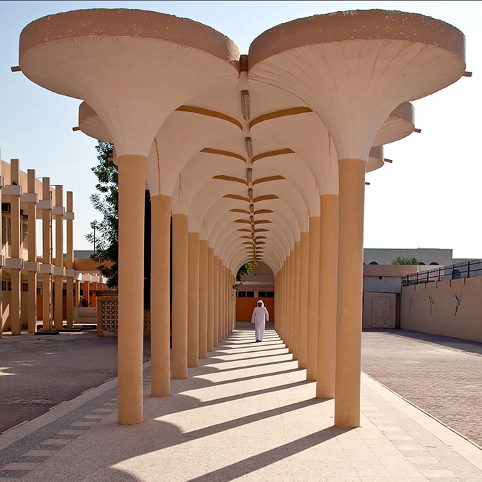 Image: This is an unusual school building in Al Ain, in the UAE.