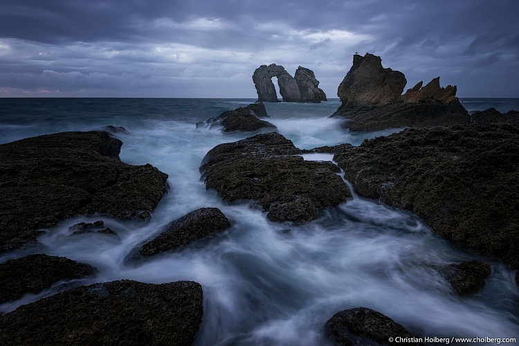 Image: Rising tide at Los Urros, Spain