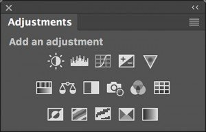 how to add adjustment panel in photoshop