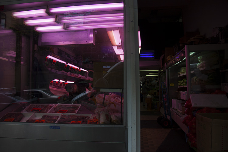 Image: The surreal light of a butcher's window