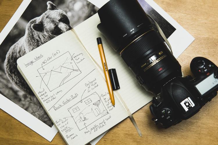 Sketchbook for taking notes