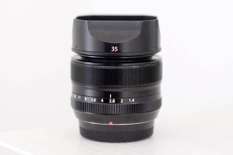 Image: My Fuji 35mm f/1.4 standard lens.