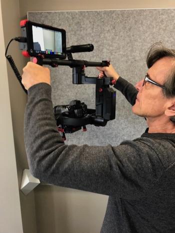 shooting video fancy rig