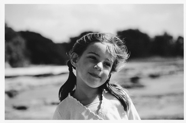 B&W image of child illustrates letting go of perfection in photography