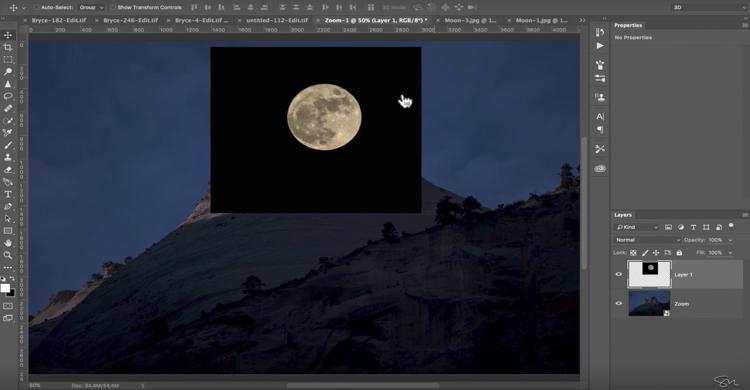 Add moon photoshop 08