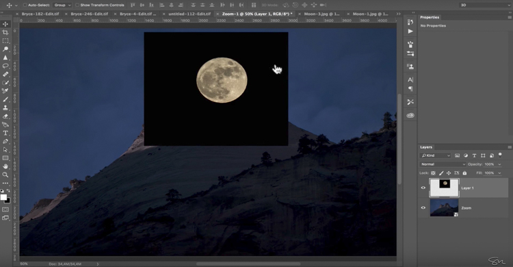 Add moon photoshop 08