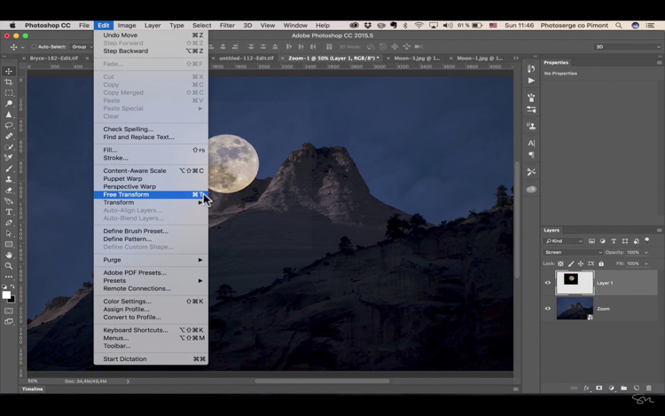 Add moon photoshop 10