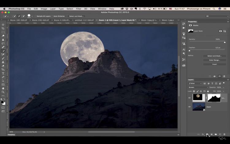 Add moon photoshop 15